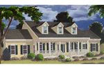Classic Cape Cod Style Home With Dormers And Covered Front Porch