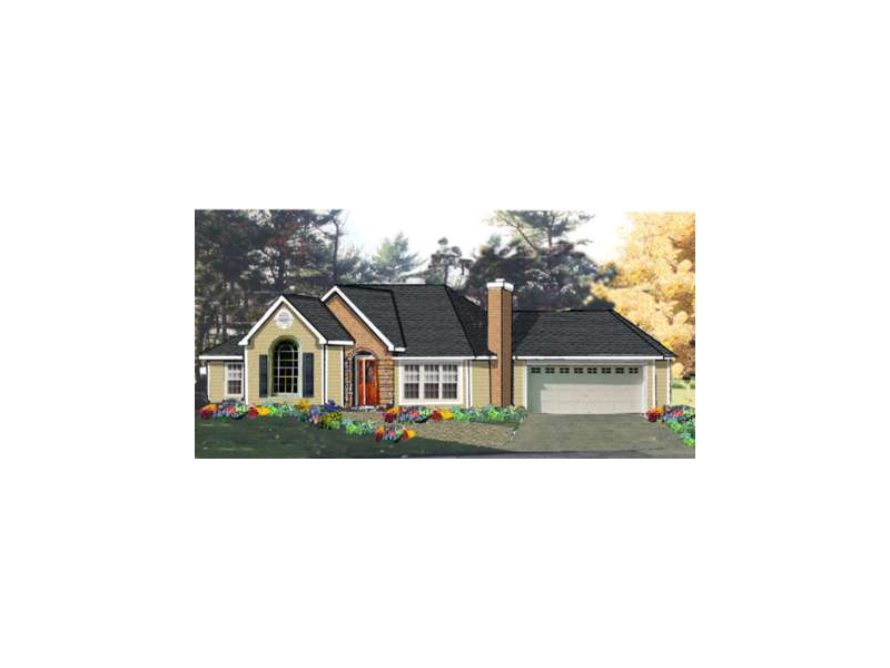 Traditional House Plan Front of Home 089D-0037