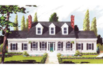 Harmonious Triple Dormers Top The Covered Front Porch Of This Southern Home