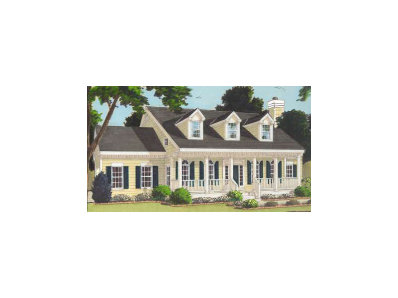 Southern Home Has Triple Dormers Above An Inviting Covered Porch