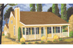 Compact Country Home With Colonial Style Front