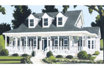 Splendid Southern Façade With Enticing Wrap-Around Porch