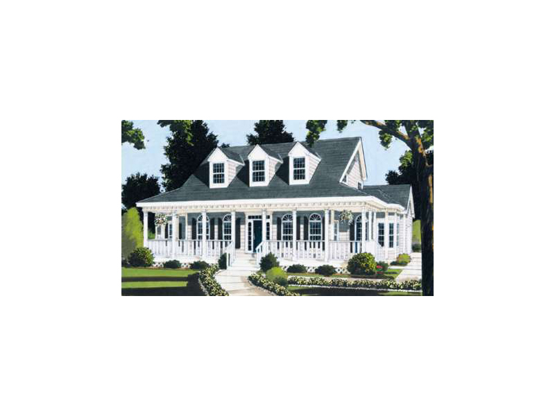 Acadian House Plan Front of Home - 089D-0103 | House Plans and More