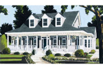 Cape Cod and New England Plan Front of Home - 089D-0103 | House Plans and More