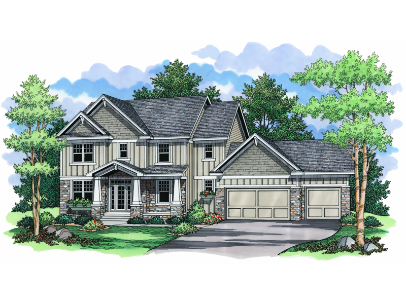 Craftsman Style Two-Story House Has Classic Details And Style