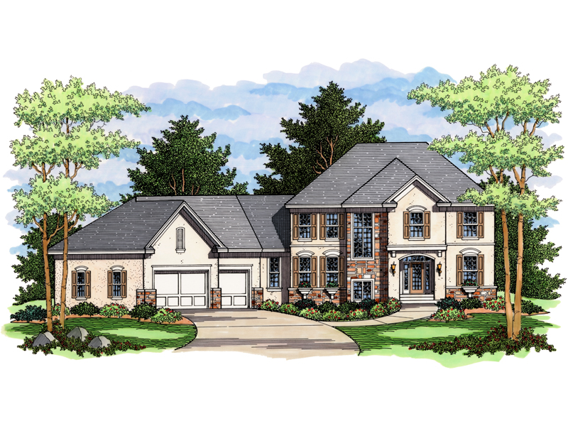 Traditional House Plan Front of Home - 091D-0016 | House Plans and More