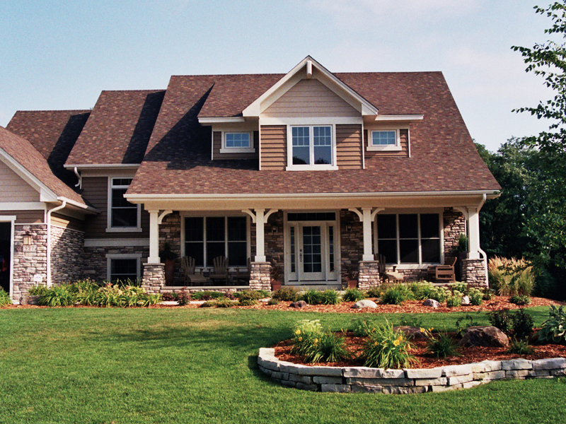 Bungalow House Plan Front of Home 091D-0017