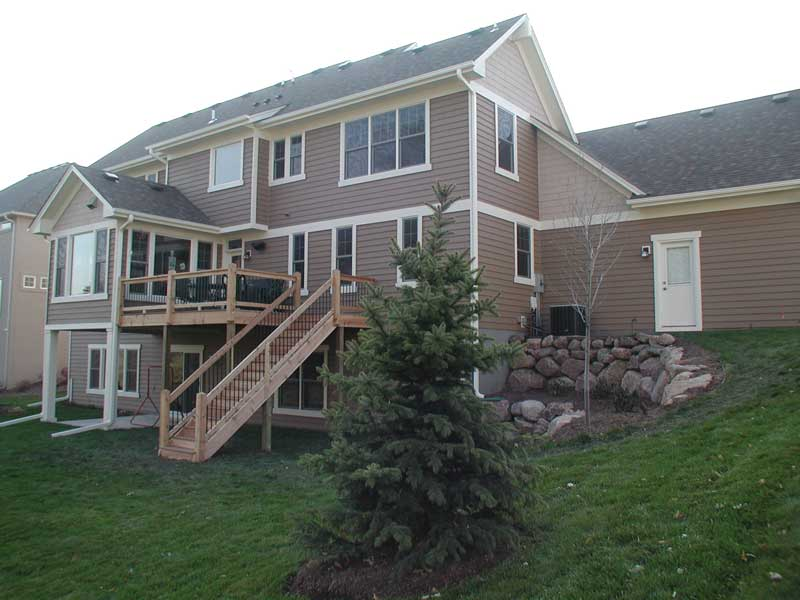 Arts and Crafts House Plan Rear Photo 01 091D-0017