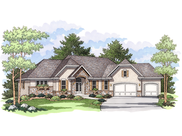 Washburne luxury ranch home plan 091d 0024 house plans for Luxury ranch home plans