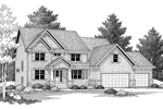 Colonial House Plan Front Image of House - 091D-0027 | House Plans and More