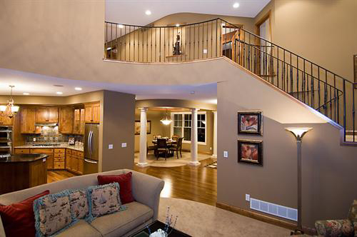 Colonial Floor Plan Stairs Photo - 091D-0027 | House Plans and More