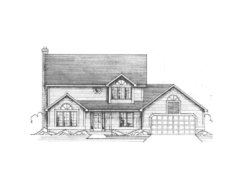 Country Style Two-Story Home With Covered Front Porch