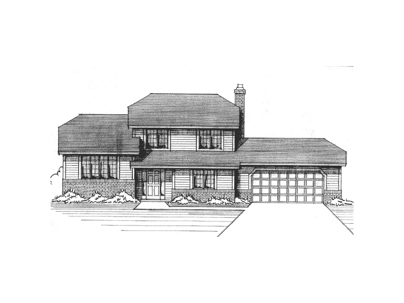 Country House Plan Front of Home - 091D-0062 | House Plans and More