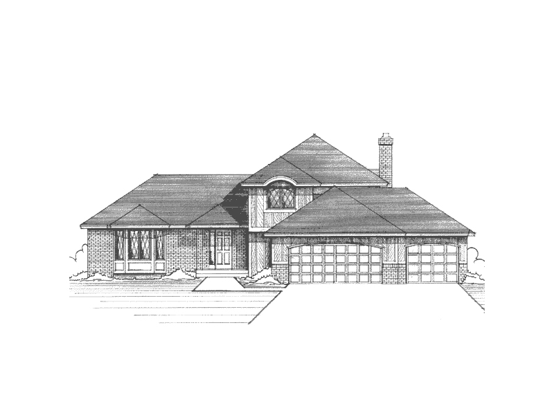 Tudor Style Two-Story Home With Mullioned Windows