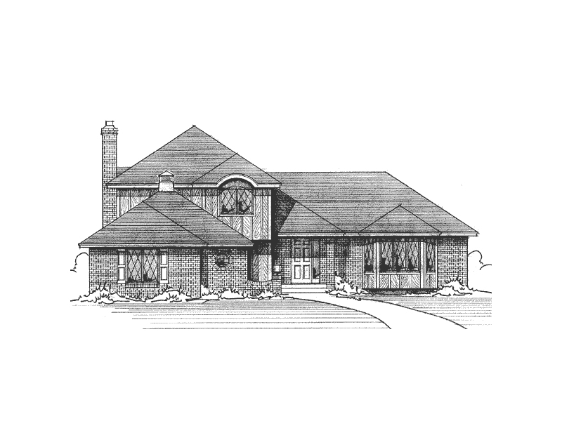 Country Style Home Accented With Multiple Roof Lines