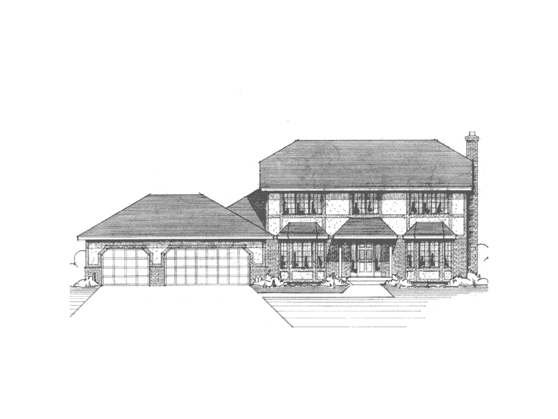 Tudor House Plan Front of Home - 091D-0118 | House Plans and More