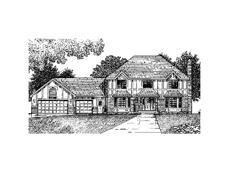 European House Plan Front of Home - 091D-0141 | House Plans and More