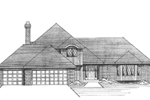 Classic European Style Can Be Seen With This Two-Story House Design
