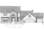 Tudor Style Two-Story Has Great Woodwork Details