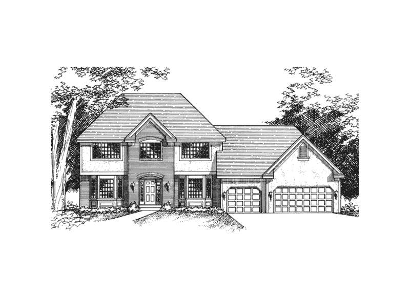 Symmetrically Pleasing Colonial Style House