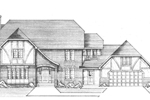 Old English Tudor Style House Has Great Roof Lines
