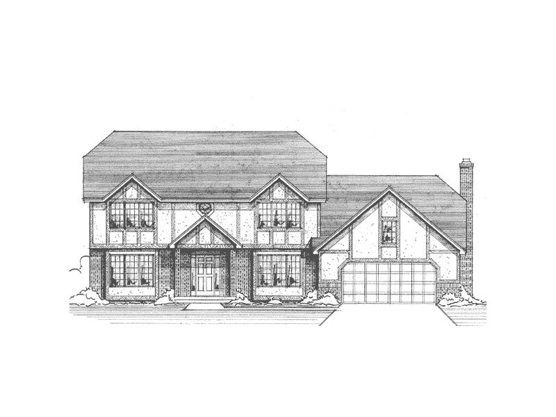 Traditional Tudor Exterior Refines This Country Home