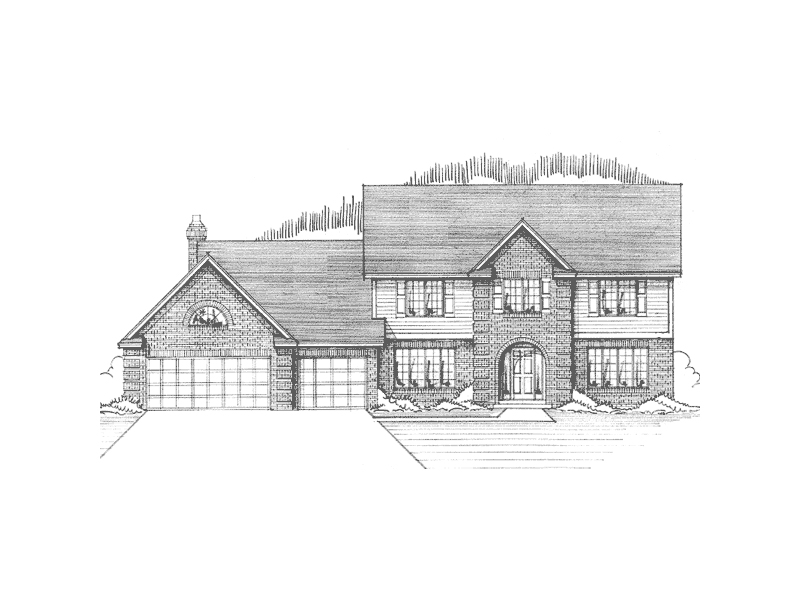 Traditional House Plan Front of Home - 091D-0267 | House Plans and More