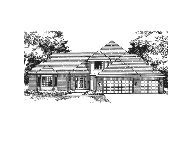 Contemporary House Plan Front of Home - 091D-0275 | House Plans and More