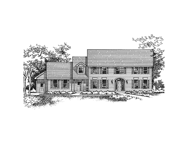 Georgian House Plan Front of Home - 091D-0334 | House Plans and More
