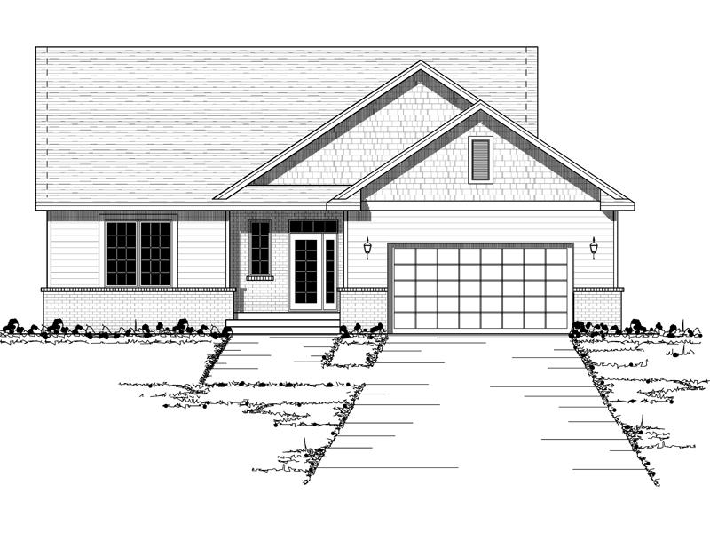 Shingle House Plan Front of Home - 091D-0373 | House Plans and More