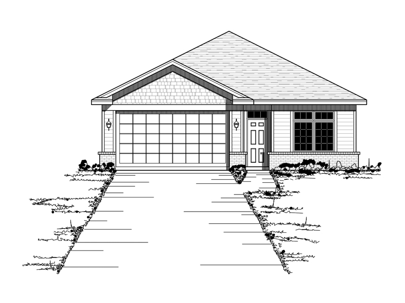 Country House Plan Front of Home - 091D-0384 | House Plans and More