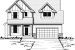 Craftsman Style Two-Story House Has Vertical Siding