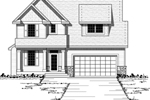 Craftsman Style Two-Story House With Shingle Siding On Gables