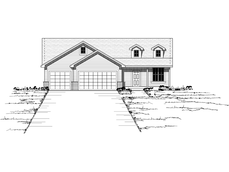 Country House Plan Front of Home - 091D-0395 | House Plans and More
