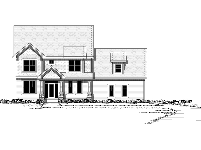 Craftsman Inspired Two-Story House