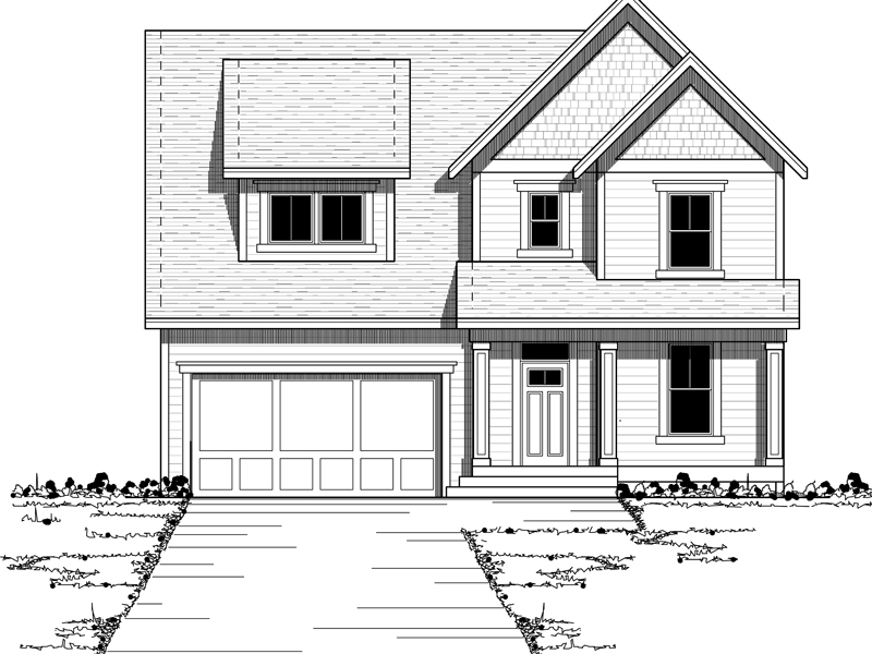 Bungalow House Plan Front of Home - 091D-0427 | House Plans and More