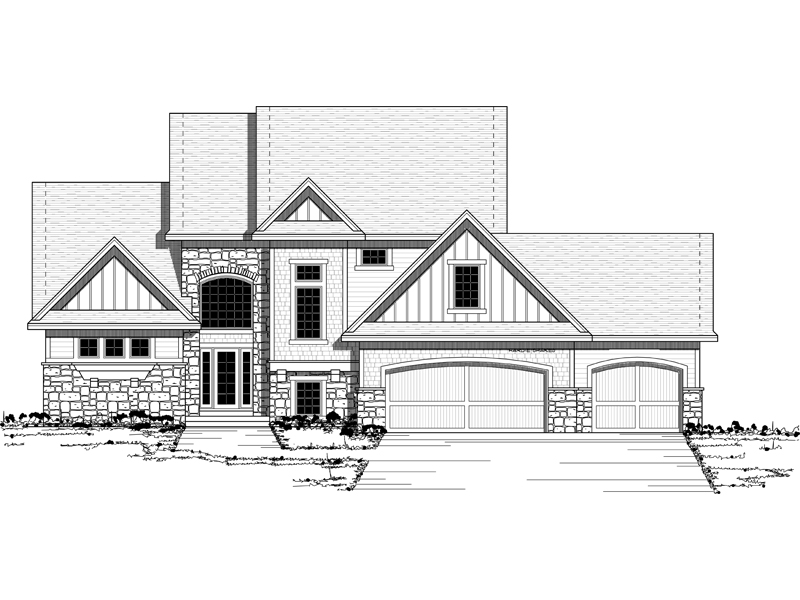 Colonial House Plan Front of Home - 091D-0439 | House Plans and More