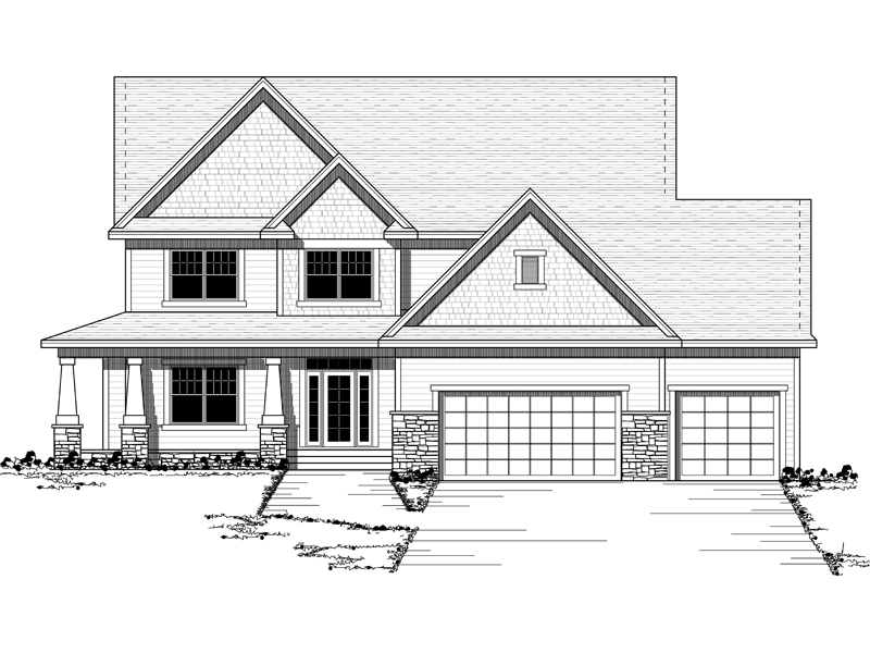 Colonial House Plan Front of Home - 091D-0442 | House Plans and More