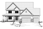 Luxurious Craftsman Style Two-Story With Wrap-Around Porch
