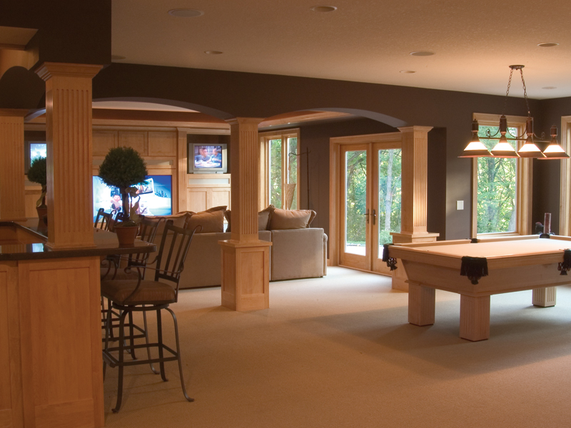 Arts & Crafts House Plan Basement Photo 02 091D-0449