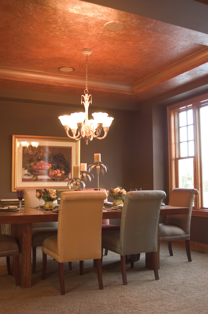 Copper Dining Room Ceiling 800 x 1203