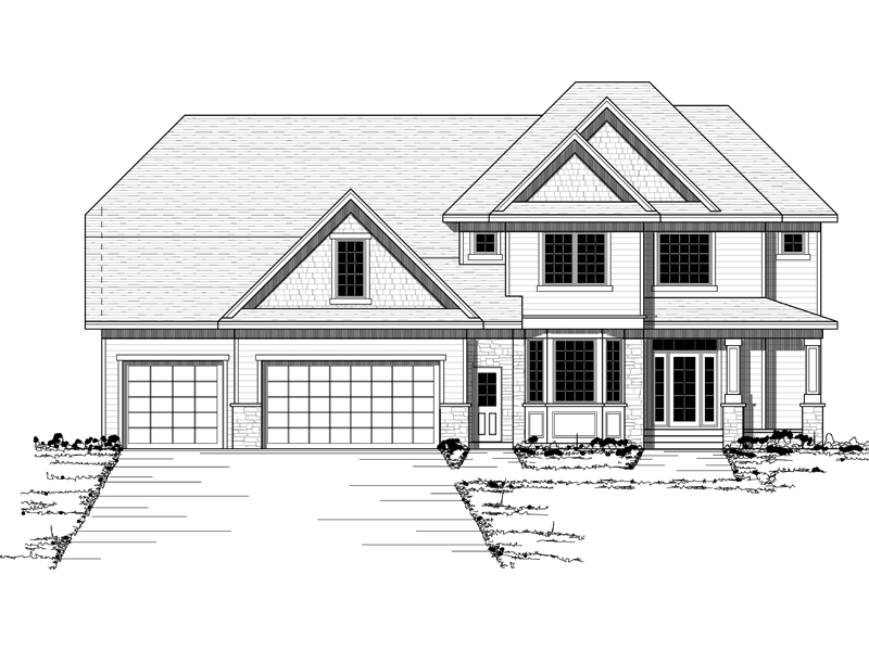 Neoclassical Home Plan Front of Home - 091D-0452 | House Plans and More