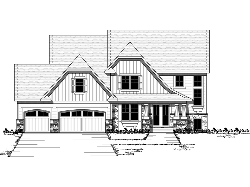 Traditional House Plan Front of Home - 091D-0456 | House Plans and More
