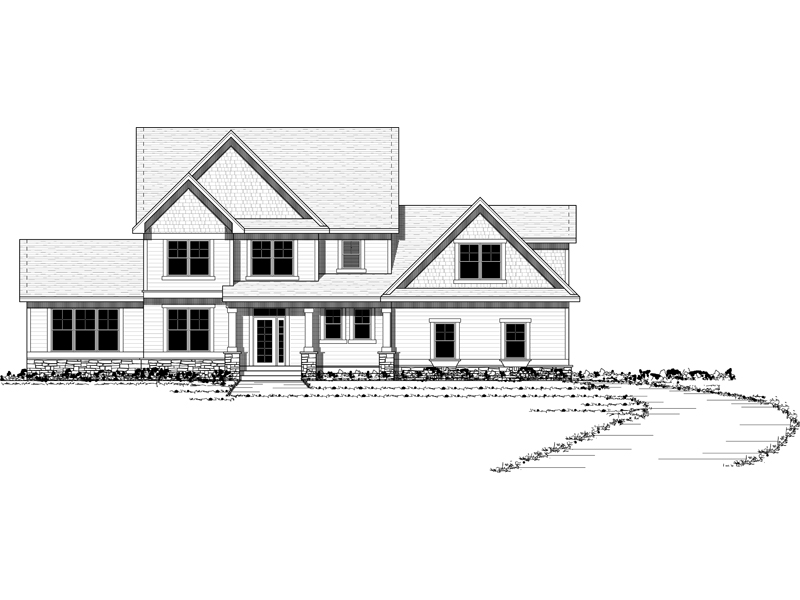 Colonial House Plan Front Image of House - 091D-0457 | House Plans and More