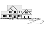 Craftsman House Plan Front Image of House - 091D-0457 | House Plans and More