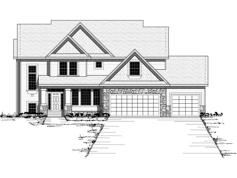 Luxury House Plan Front of Home - 091D-0460 | House Plans and More