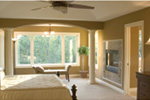 Shingle House Plan Master Bedroom Photo 01 - 091D-0468 | House Plans and More