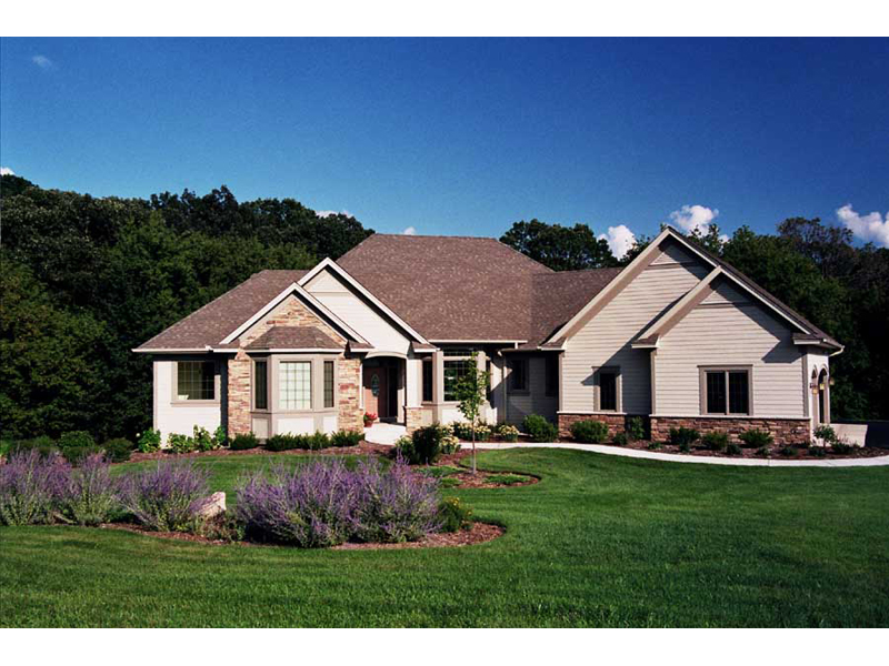 Country French House Plan Front of Home 091D-0469