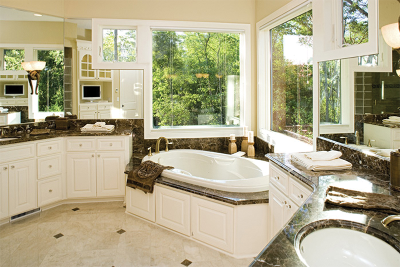 Tudor House Plan Master Bathroom Photo 01 - 091D-0476 | House Plans and More
