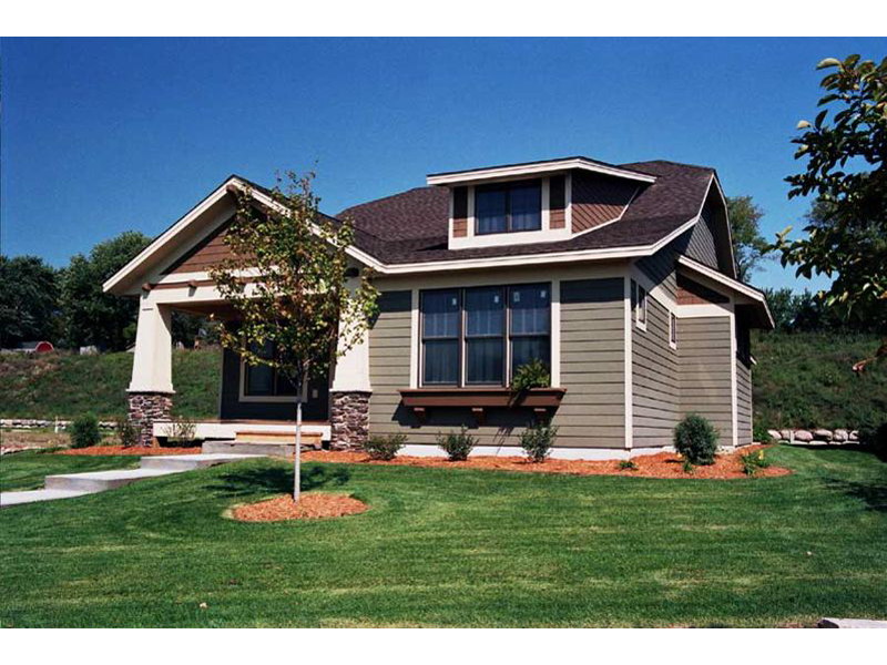 arts and crafts influenced ranch bungalow - Arts Crafts Home Plans
